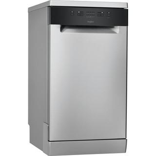 Whirlpool dishwasher: inox color, slimline - WSFE 2B19 X UK