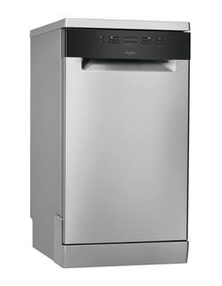 Whirlpool dishwasher: inox color, slimline - WSFE 2B19 X UK N