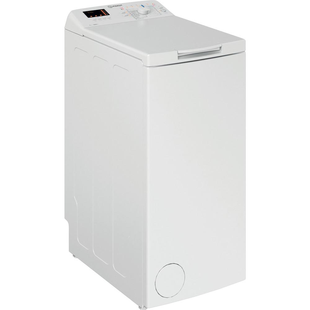 Indesit Pračka Volně stojící BTW S72200 EU/N Bílá Top loader A+++ Perspective