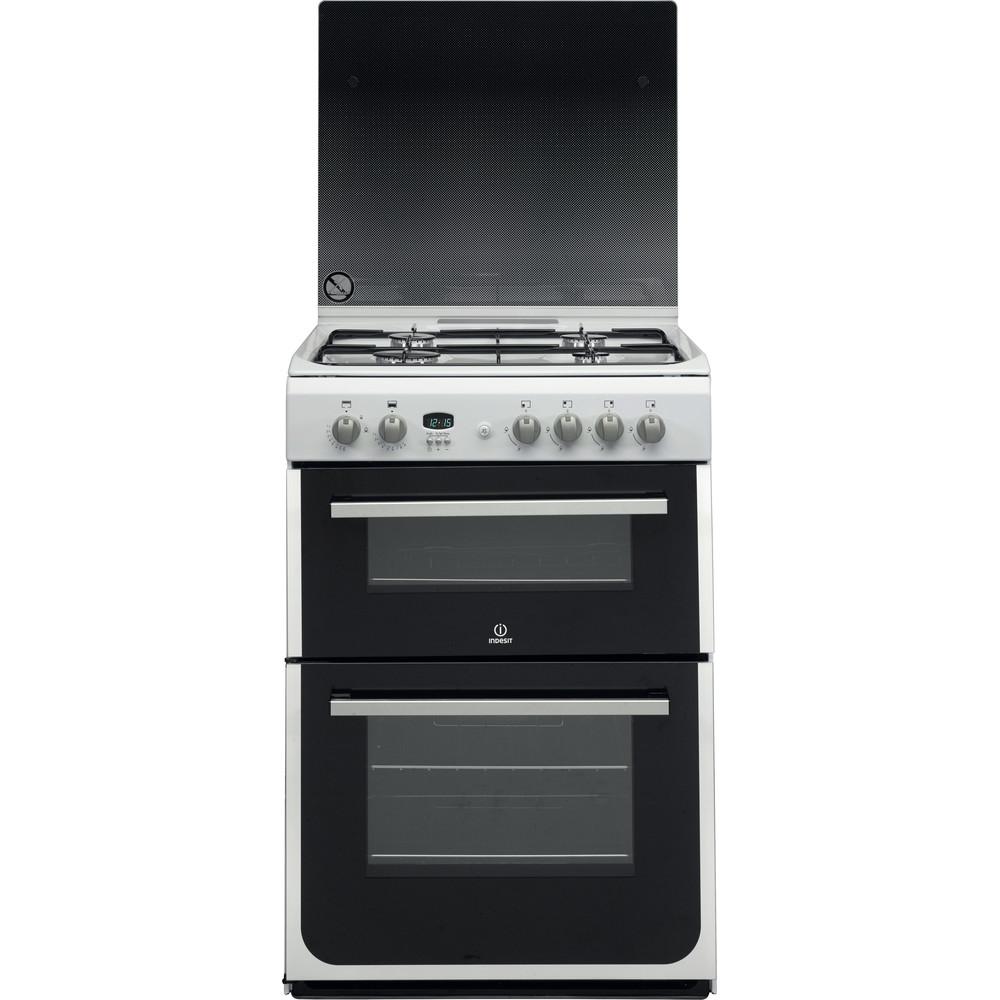 Indesit Double Cooker DD60G2CG(W)/UK White A+ Enamelled Sheetmetal Frontal