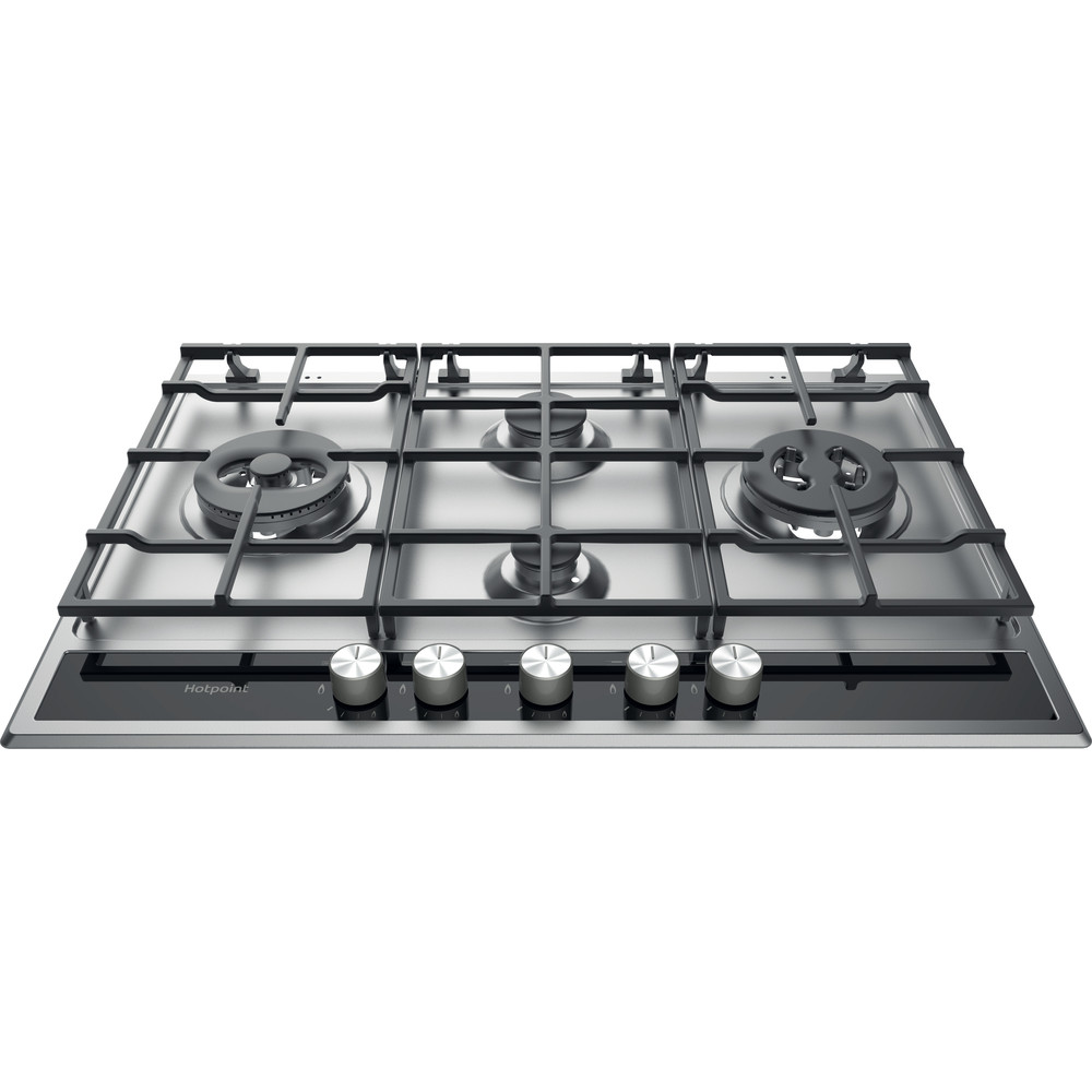 Hotpoint HOB PKLL 741 T/D2/IX/H Inox GAS Frontal_Top_Down