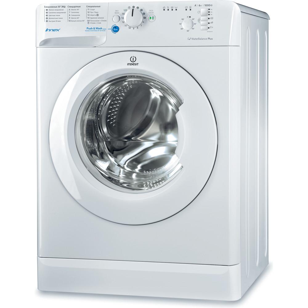 Indesit Стиральная машина Отдельностоящий BWSB 61051 Белый Фронтальная загрузка A Perspective