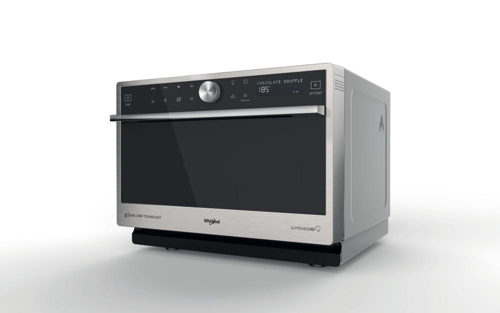 Whirlpool Mikrohullámú sütő Szabadonálló MWP 3391 SX Inox Érintőszenzoros kezelés 33 Mikrohullám - kombi 1000 Perspective