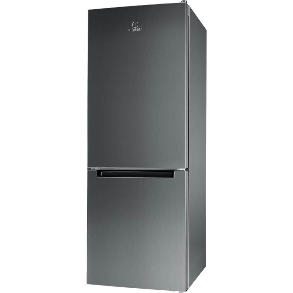 Indesit Kombinētais ledusskapis/saldētava Brīvi stāvošs LI6 S1E X Inox 2 doors Perspective