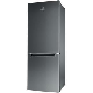 Indesit Kombinovaná chladnička s mrazničkou Voľne stojace LI6 S1E X Nerezová 2 doors Perspective
