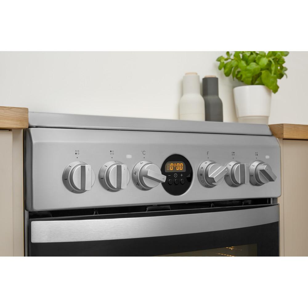 Indesit Cuisinière IS5V8CHX/E Inox Electrique Lifestyle control panel