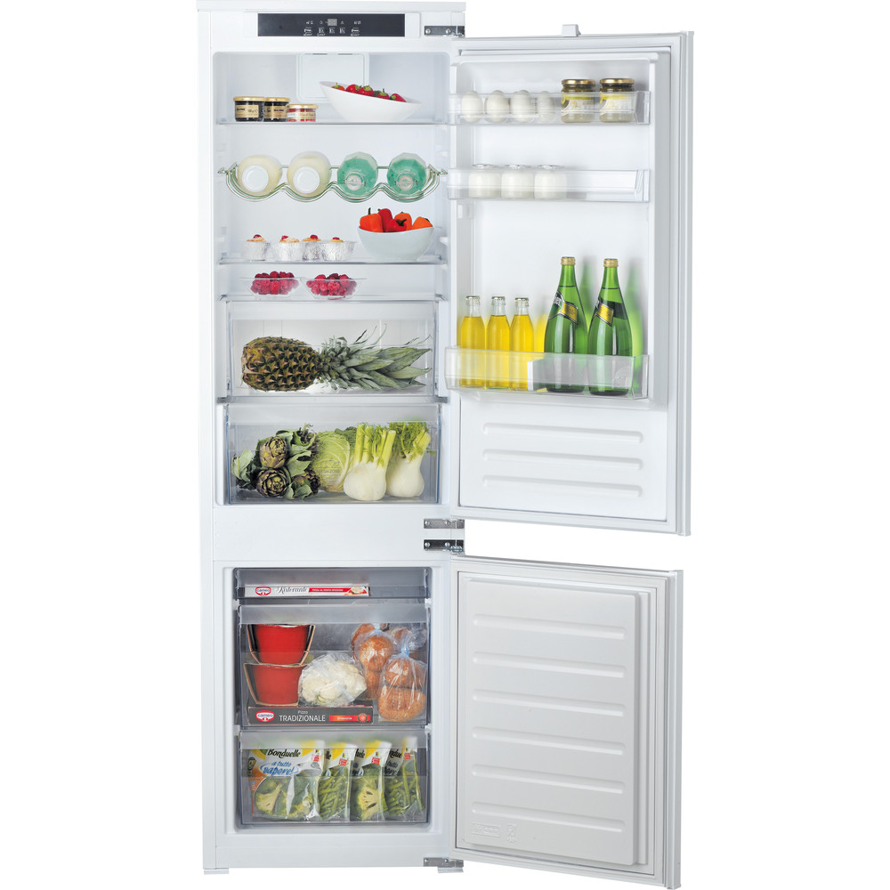 Hotpoint_Ariston Комбиниран хладилник с фризер За вграждане BCB 7030 E C1 Бял 2 врати Frontal open