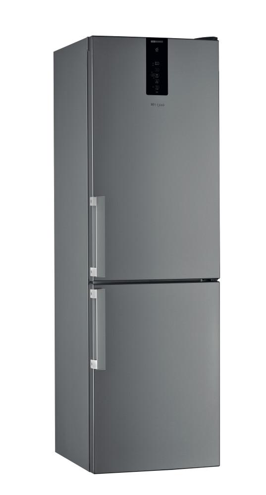Whirlpool Combiné réfrigérateur congélateur Pose-libre W9 821D OX H Optic Inox 2 portes Perspective