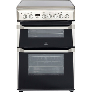 Indesit Double Cooker ID60C2(X) S Inox A Vitroceramic Frontal