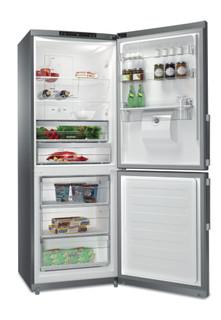 Whirlpool szabadonálló, alulfagyasztós hűtő-fagyasztó: fagymentes - WB70I 952 X AQUA