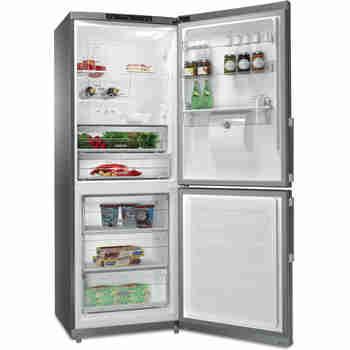 Whirlpool Combiné réfrigérateur congélateur Pose-libre WB70I 952 X AQUA Optic Inox 2 portes Perspective open