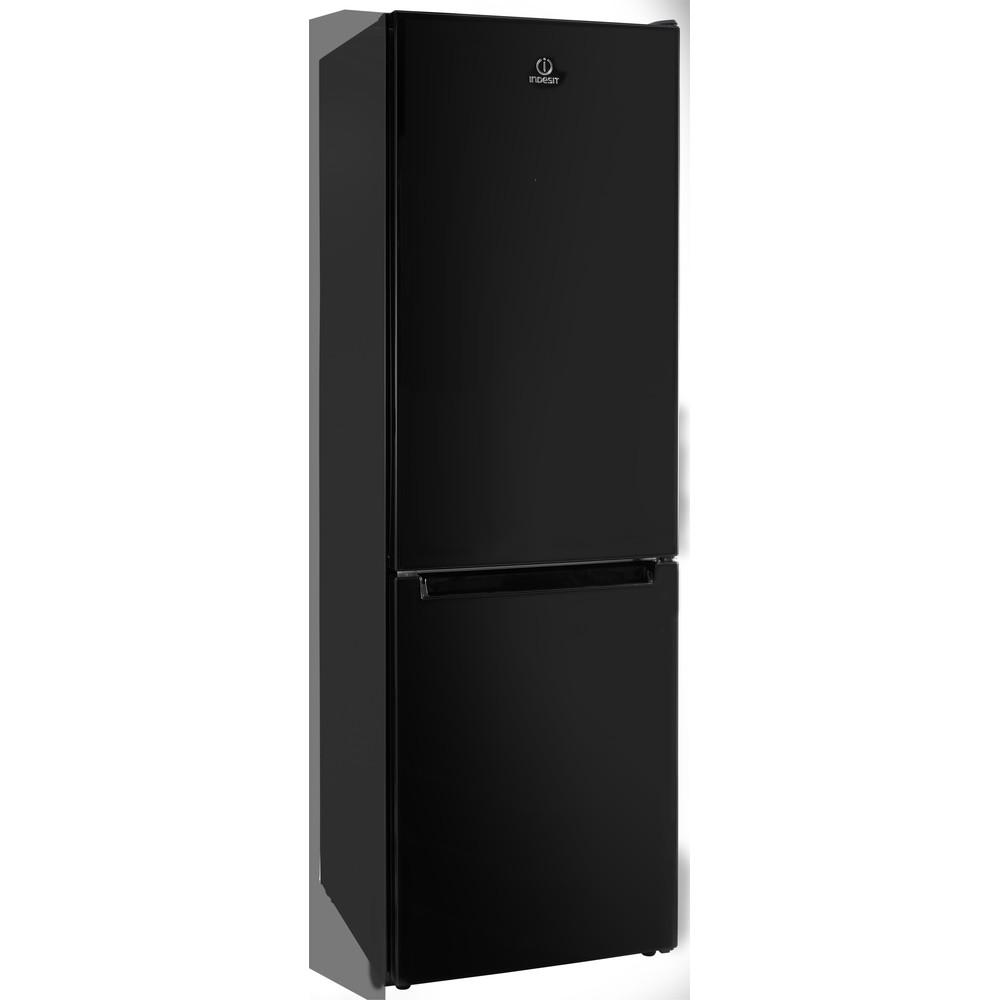 Indesit Réfrigérateur combiné Pose-libre LR8 S2 K B Noir 2 portes Perspective