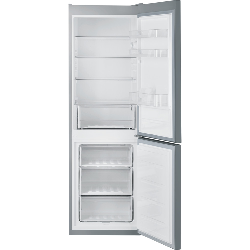 Indesit Fridge Freezer Free-standing LR8 S1 S UK Silver 2 doors Frontal open