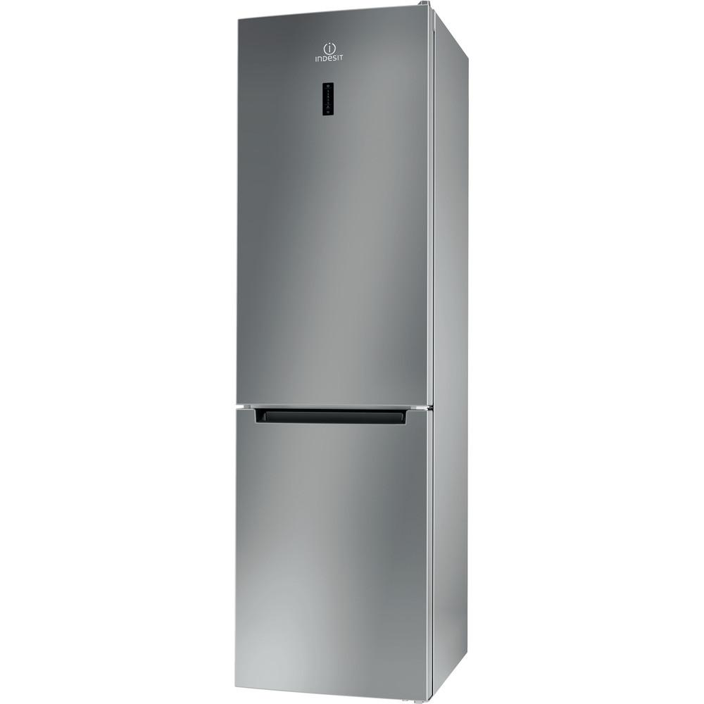 Indesit Combinazione Frigorifero/Congelatore A libera installazione XI9 T2O X MB Inox 2 porte Perspective