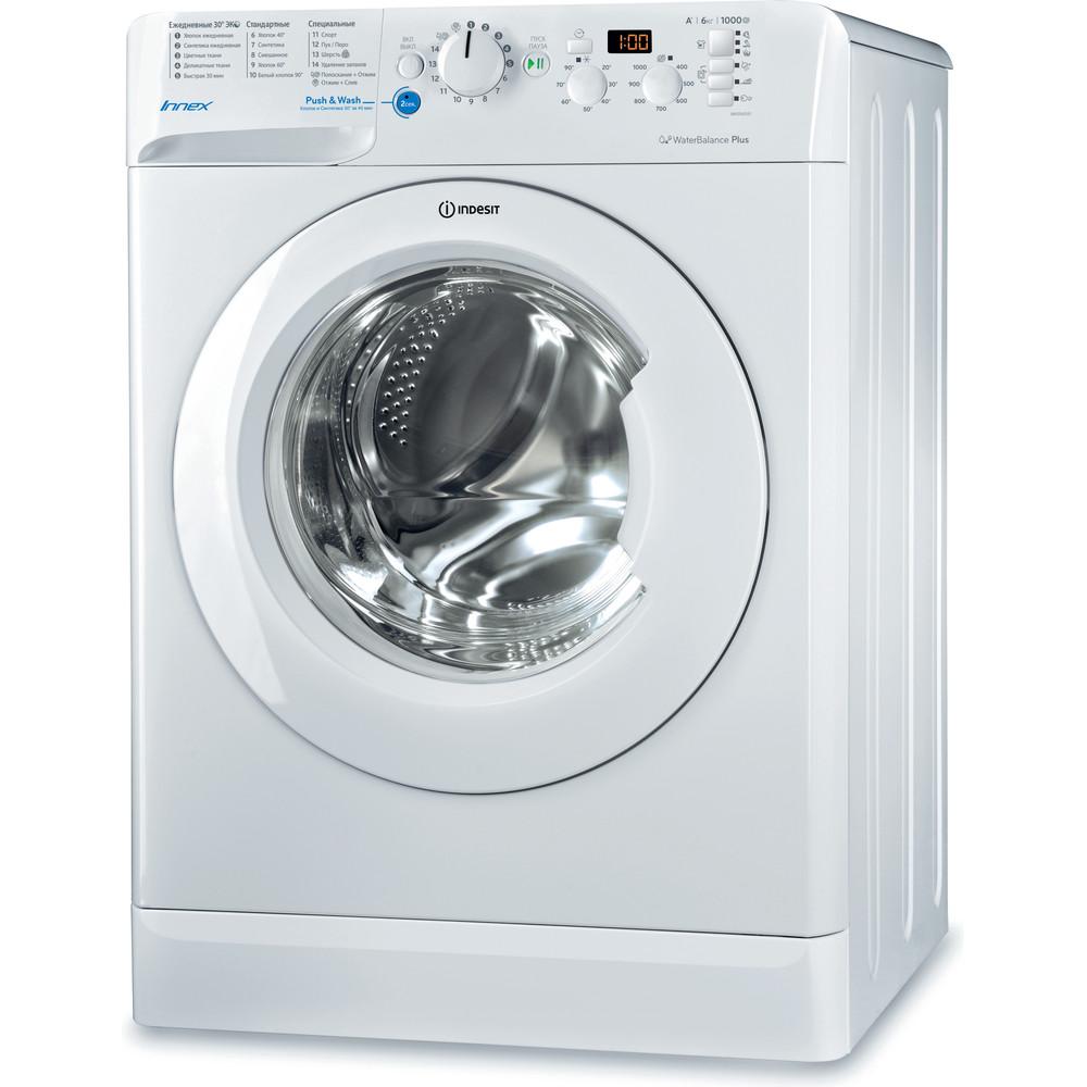 Indesit Стиральная машина Отдельностоящий BWSD 61051 1 Белый Фронтальная загрузка A Perspective