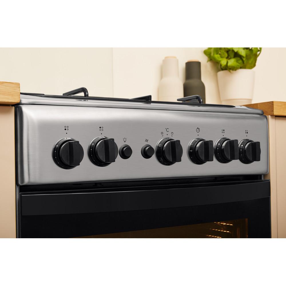 Indesit Cocina IS5G1PMX/E Inox Gas Lifestyle_Control_Panel