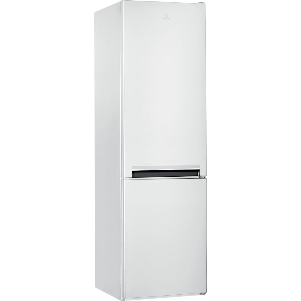 Indesit Kombinovaná chladnička s mrazničkou Volně stojící LI9 S1E W Global white 2 doors Perspective