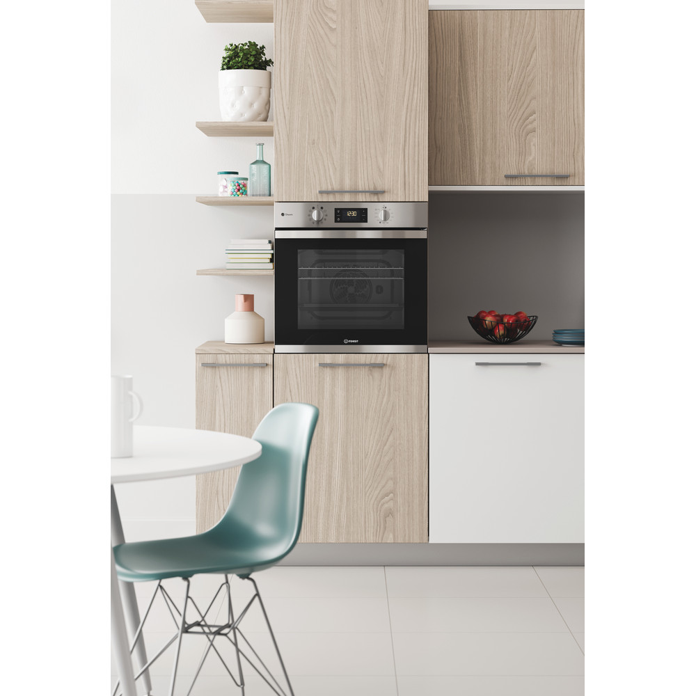 Indesit OVEN Built-in KFWS 3844 H IX UK Electric A+ Lifestyle frontal