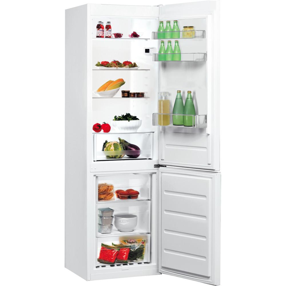 Indesit Kombinētais ledusskapis/saldētava Brīvi stāvošs LI7 S1E W Global white 2 doors Perspective open