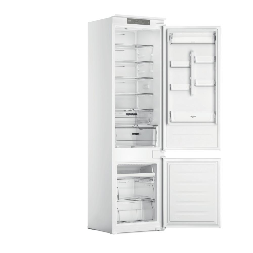 Whirlpool Šaldytuvo / šaldiklio kombinacija Įmontuojamas WHC20 T321 Balta 2 doors Perspective open