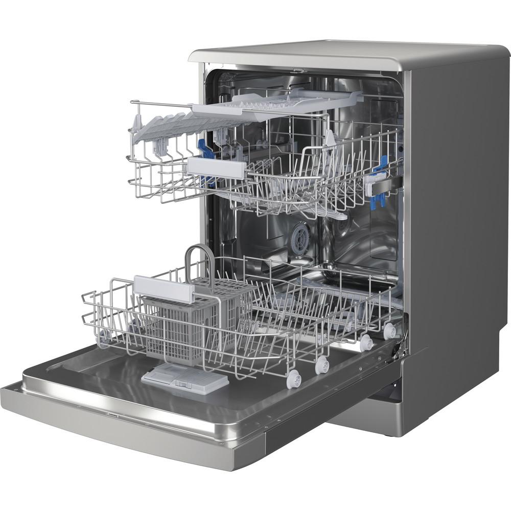 Indesit Mašina za pranje posuđa Samostojeći DFC 2B+19 AC X Samostojeći F Perspective open