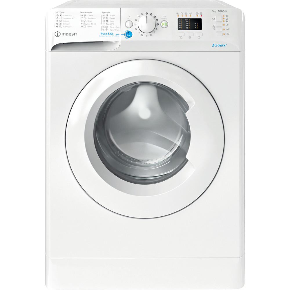 Indesit Перална машина Свободностоящи BWSA 51051 W EE N Бял Предно зареждане F Frontal