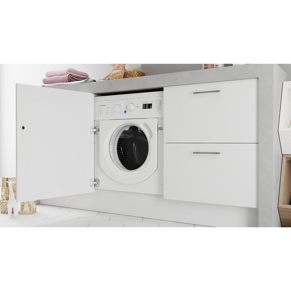 Indesit Washing machine Built-in BI WMIL 81284 UK White Front loader C Lifestyle perspective