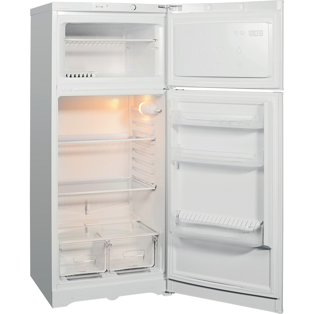 Indesit Холодильник с морозильной камерой Отдельностоящий TIA 14 Белый 2 doors Perspective open