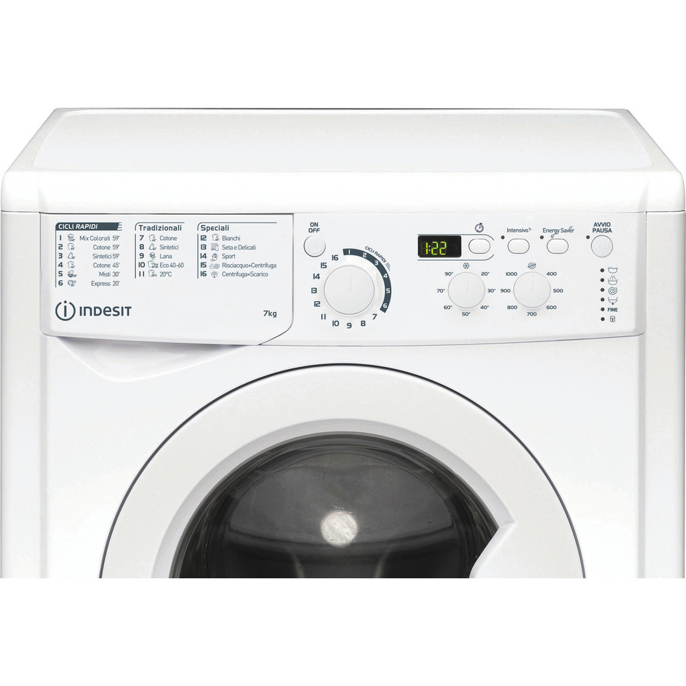 Indesit Lavabiancheria A libera installazione EWD 71052 W IT N Bianco Carica frontale E Control panel