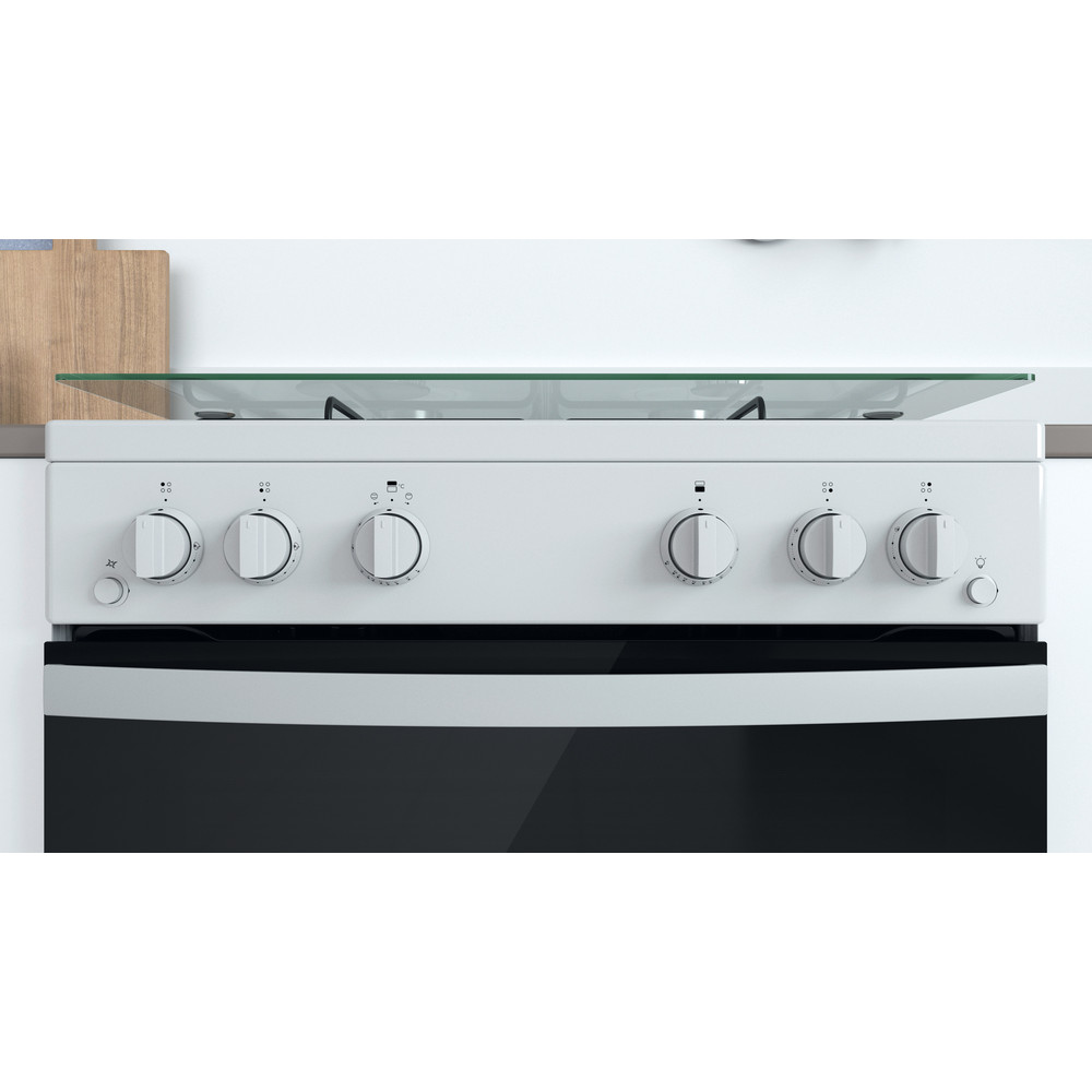 Indesit Double Cooker ID67G0MCW/UK White A+ Lifestyle control panel