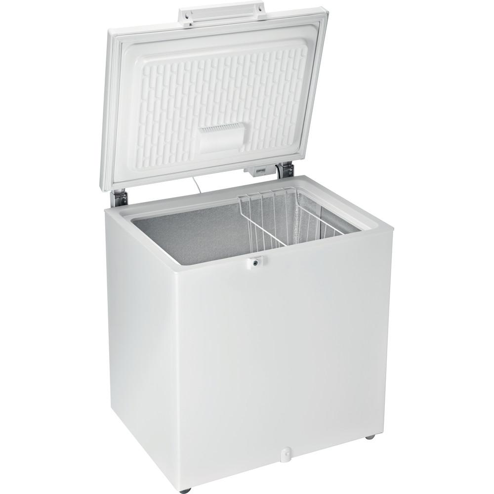 Indesit Congelatore A libera installazione OS 2A 200 H Bianco Perspective open