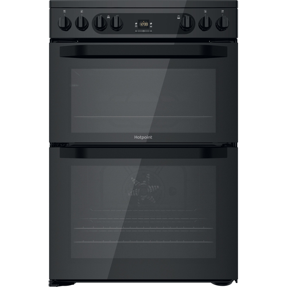 Hotpoint Double Cooker HDM67V92HCB/UK Black A Frontal