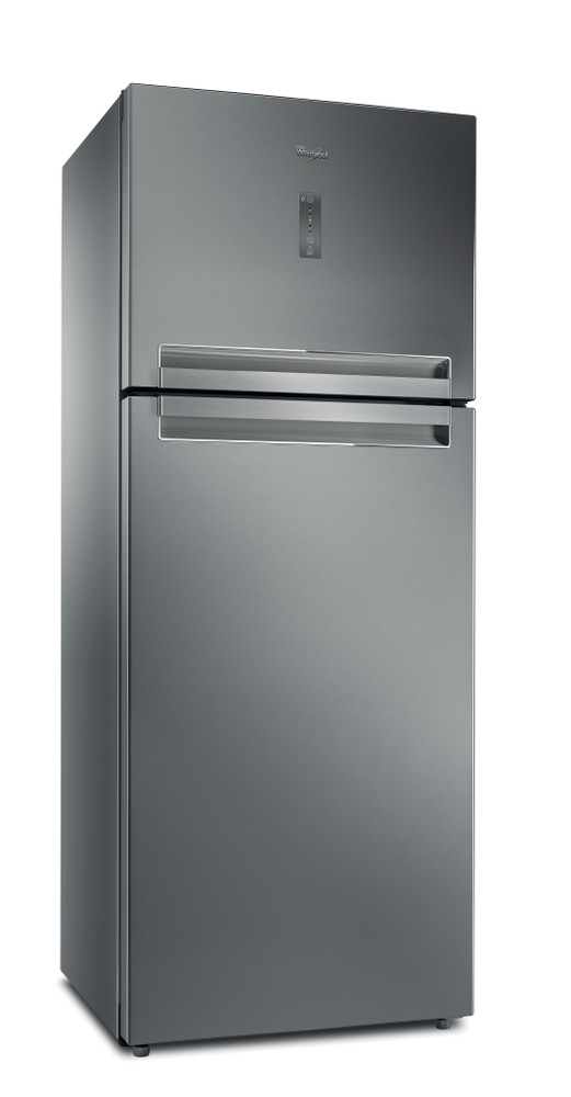 Whirlpool Combiné réfrigérateur congélateur Pose-libre T TNF 8211 OX Inox 2 portes Perspective