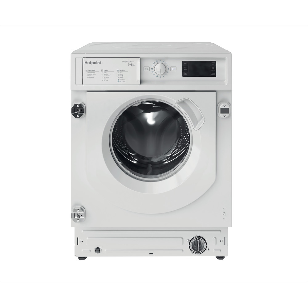 Hotpoint Washer dryer Built-in BI WDHG 75148 UK N White Front loader Frontal