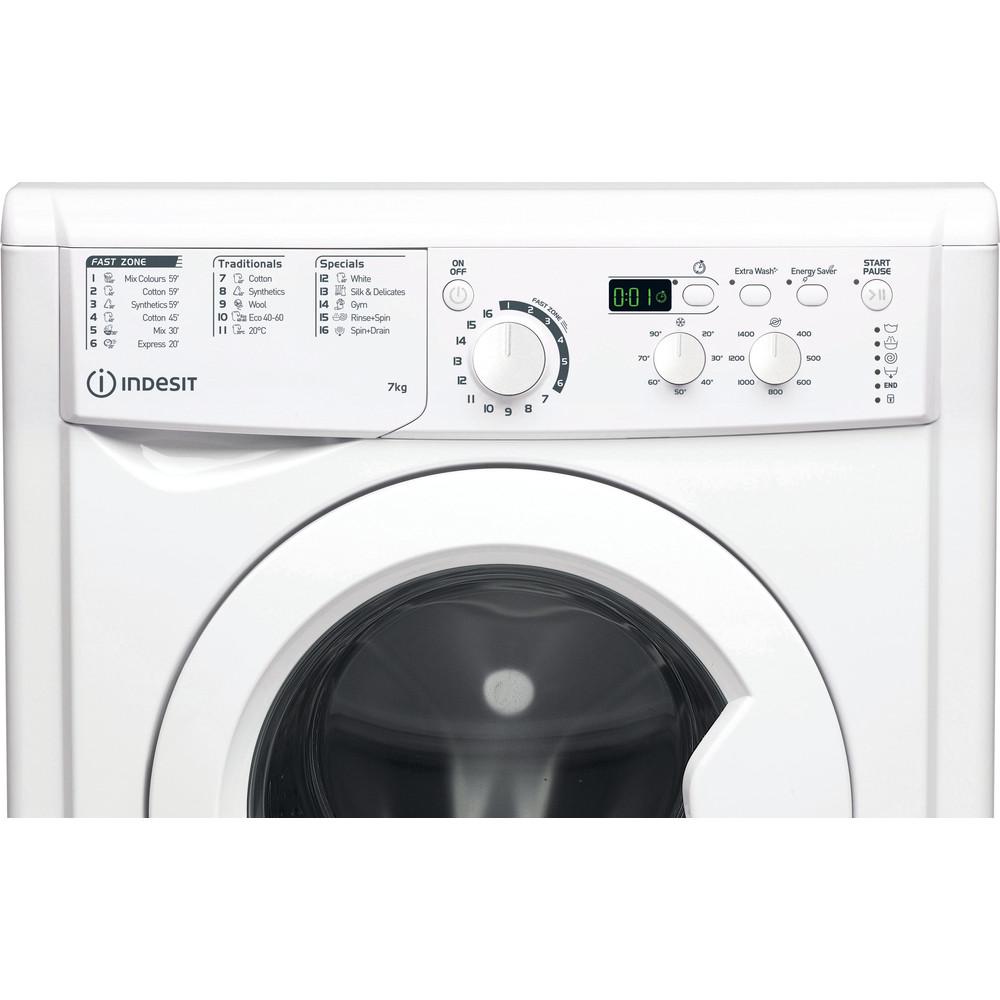 Indesit Wasmachine Vrijstaand EWD 71452 W EU N Wit Voorlader E Control panel