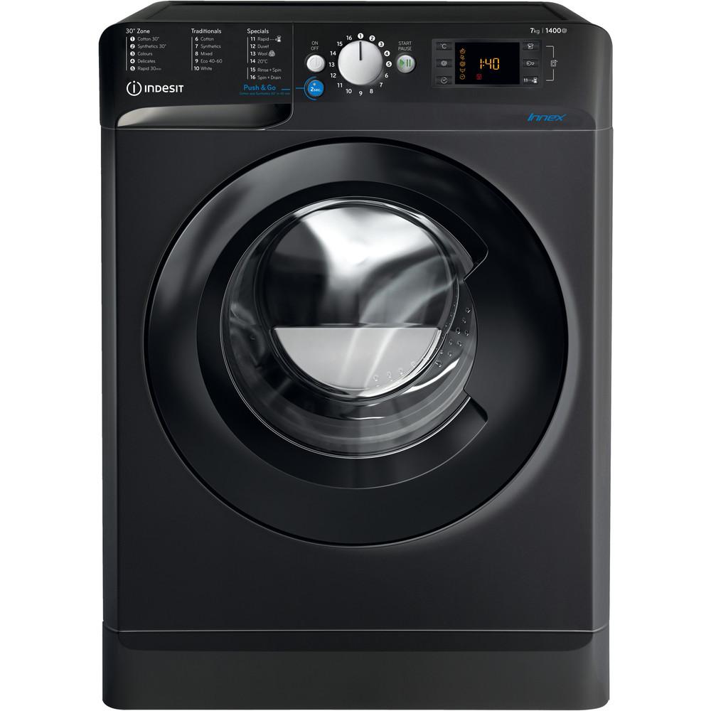 Indesit Washing machine Free-standing BWE 71452 K UK N Black Front loader A+++ Frontal