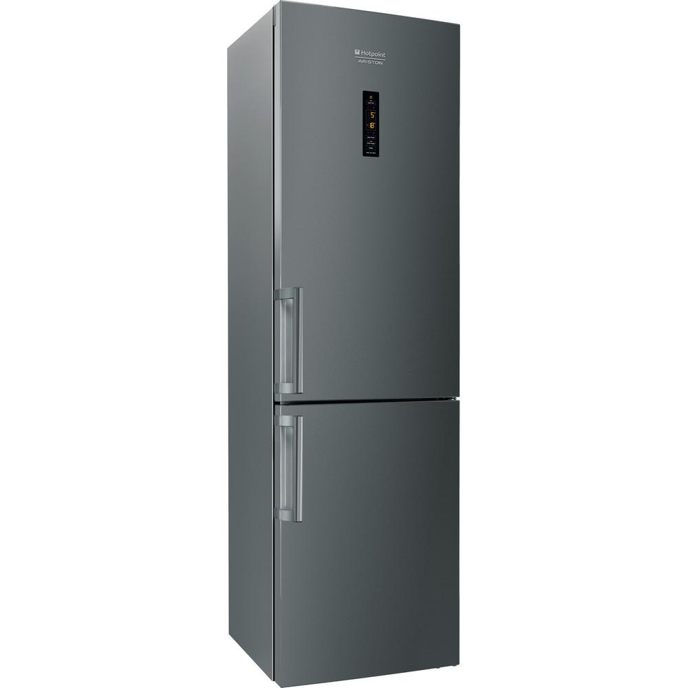 Hotpoint_Ariston Combinație frigider-congelator Neincorporabil XH9 T2Z COJZH Argintiu Negru 2 doors Perspective