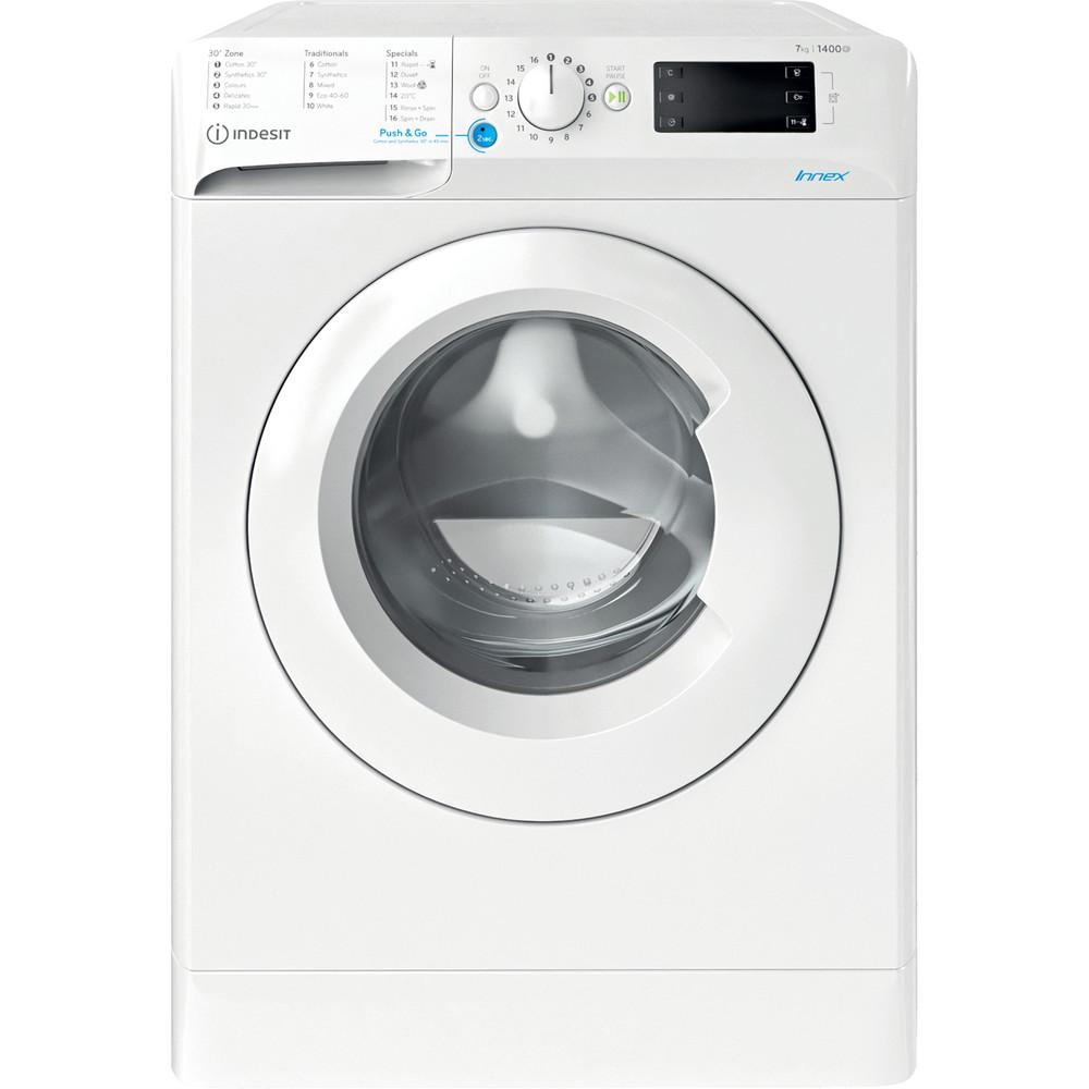 Indesit Washing machine Free-standing BWE 71452 W UK N White Front loader E Frontal