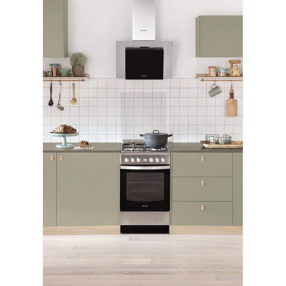 Indesit HOOD Built-in IHVP 6.4 LL K Black Wall-mounted Electronic Lifestyle frontal