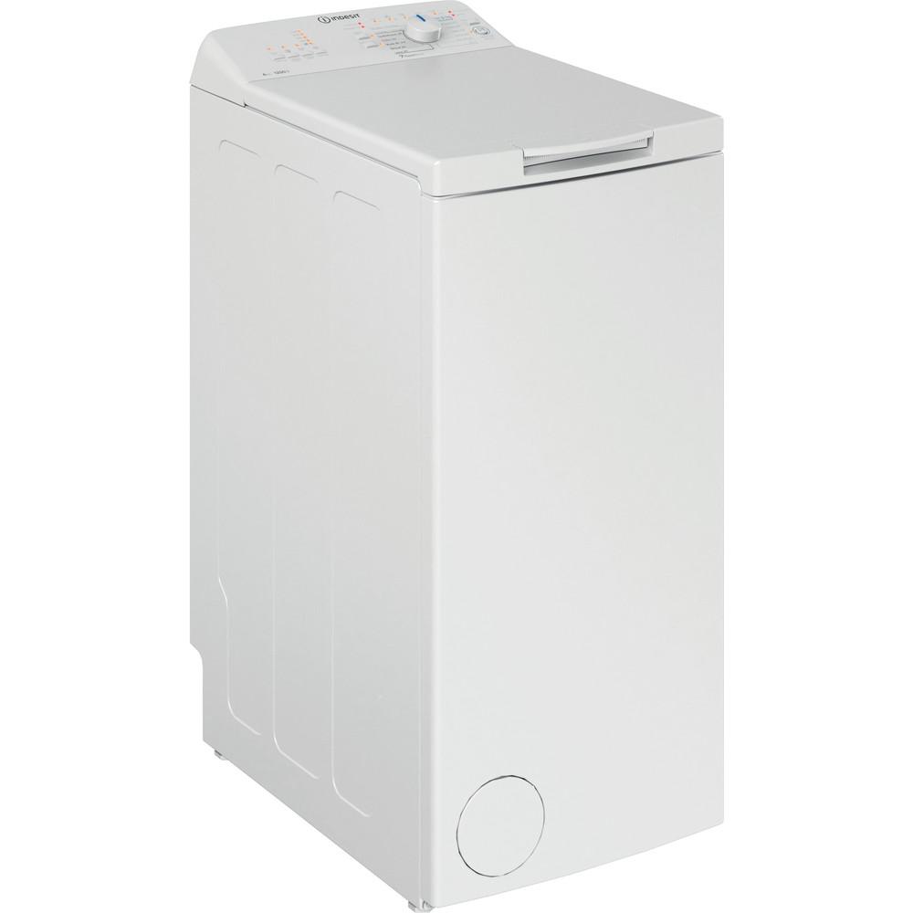Indesit Lave-linge Pose-libre BTW L6230 FR/N Blanc Lave-linge top D Perspective