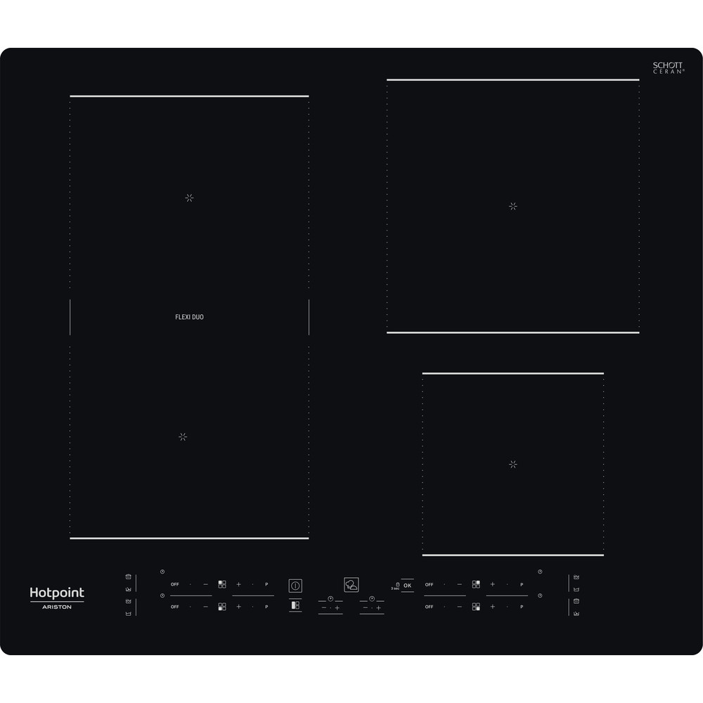 Hotpoint_Ariston Piano cottura HB 3160C NE Nero Induction vitroceramic Frontal