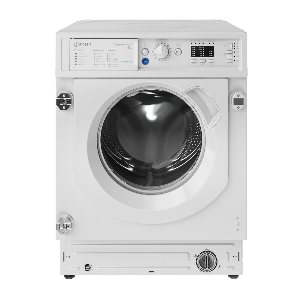 Indesit Washing machine Built-in BI WMIL 91484 UK White Front loader C Frontal