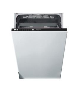 Kalusteisiin sijoitettava Whirlpool astiapesukone: Musta, Slimline - WSIE 2B19 C