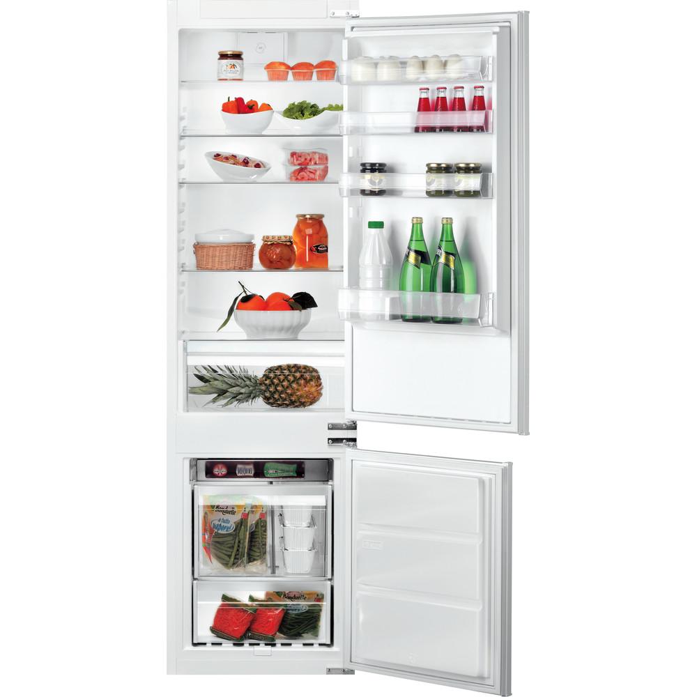 Hotpoint_Ariston Combinazione Frigorifero/Congelatore Da incasso B 20 A1 DV E/HA 1 Bianco 2 porte Frontal open