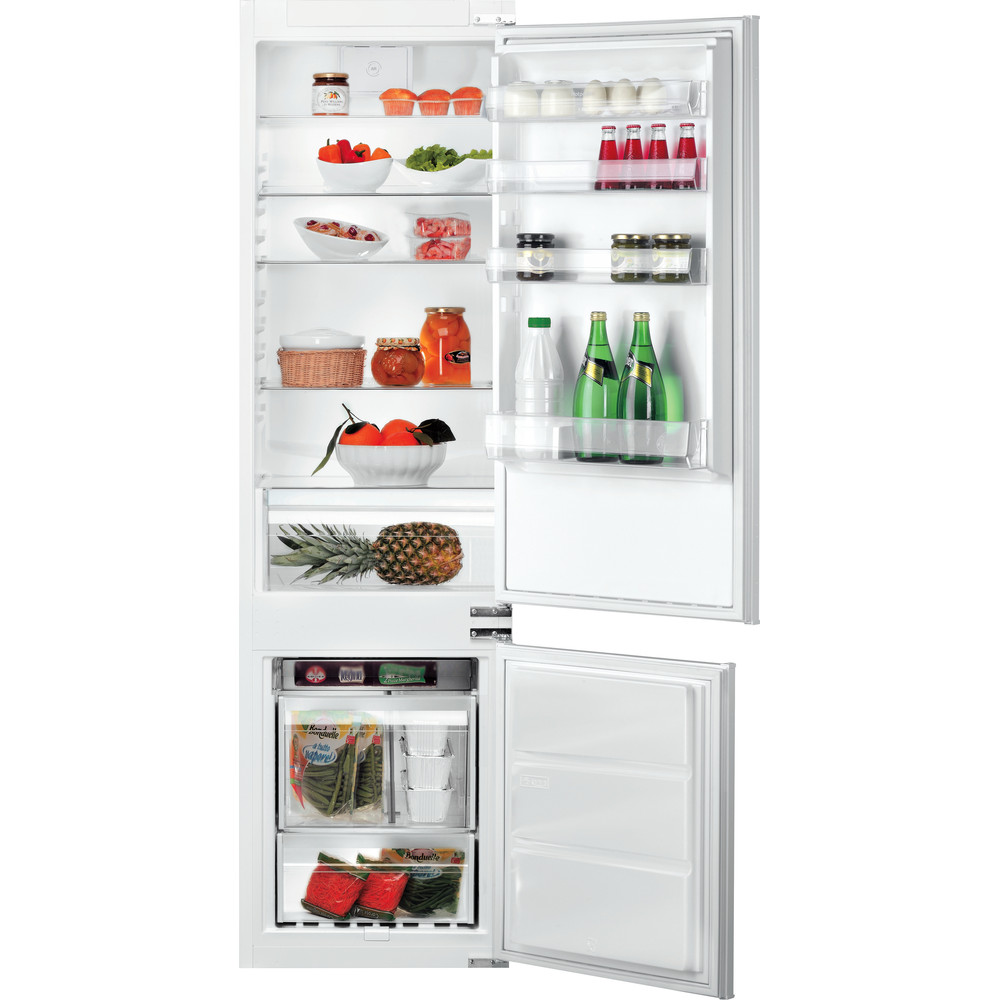 Hotpoint_Ariston Combinazione Frigorifero/Congelatore Da incasso B 20 A1 DV E/HA Inox 2 porte Frontal open