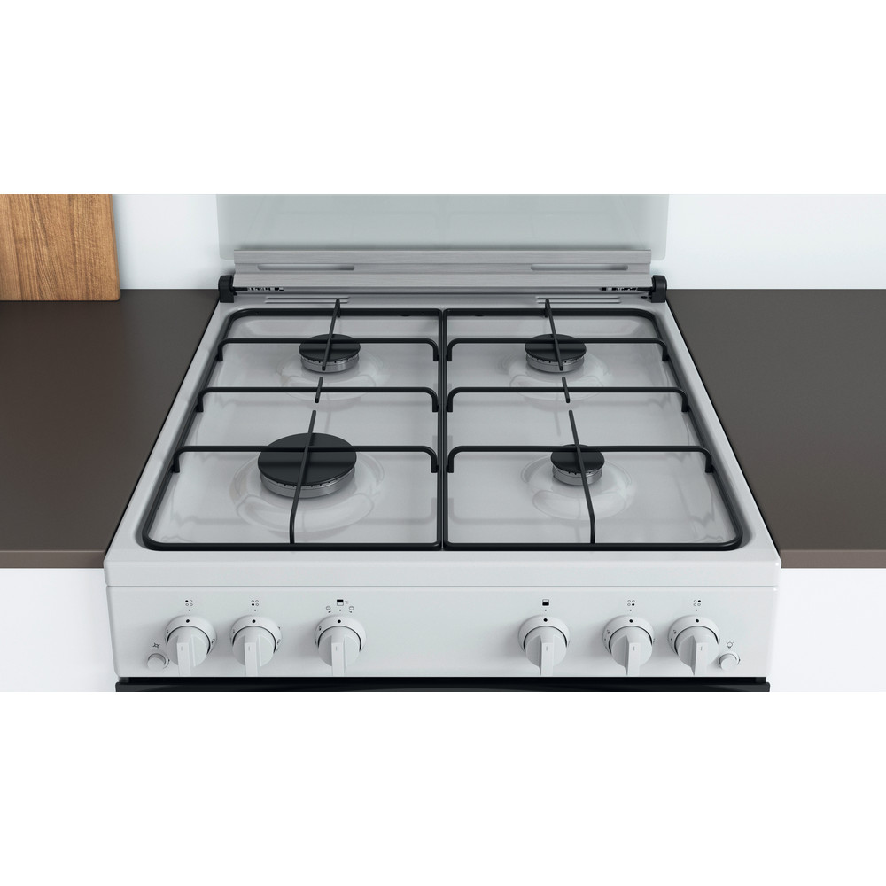 Indesit Double Cooker ID67G0MCW/UK White A+ Lifestyle frontal top down