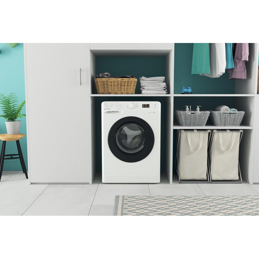 Indsit Maşină de spălat rufe Independent MTWSA 61252 WK EE Alb Încărcare frontală A +++ Lifestyle frontal