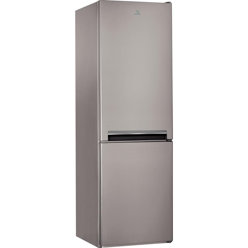 Indesit Kombinētais ledusskapis/saldētava Brīvi stāvošs LI9 S2E X Inox 2 doors Perspective