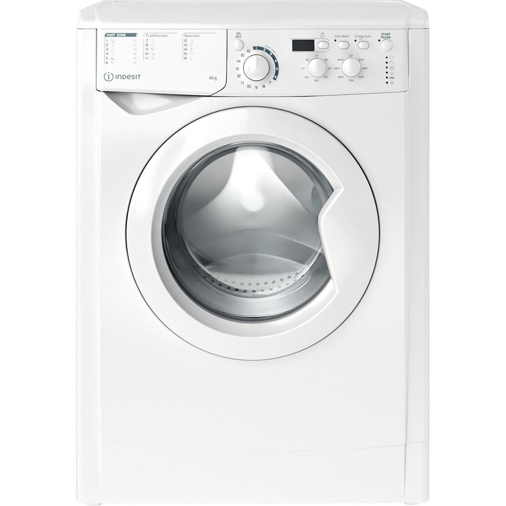 Indesit Pračka Volně stojící EWUD 41251 W EU N Bílá Front loader F Frontal