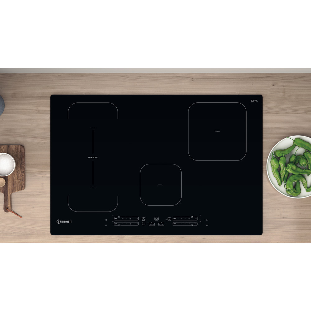 Indesit Table de cuisson IB 21B77 NE Noir Induction vitroceramic Lifestyle frontal